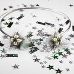 Чокер Empire of the stars с меховой опушкой, жемчугом и чешским стеклом.